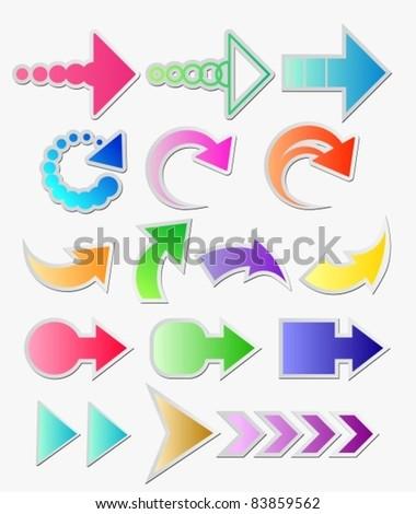 arrows set over white
