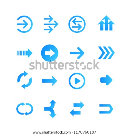 arrows set, vector