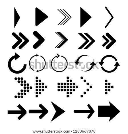 Arrows vector collection. Set different Black Arrow Icon. Vector Collection