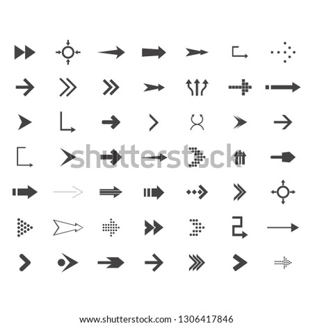 arrows vector collection with