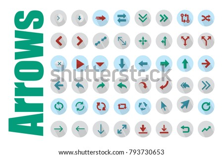 Arrows vector collection with elegant style, Arrow sign icon set, Vector illustration web internet design elements