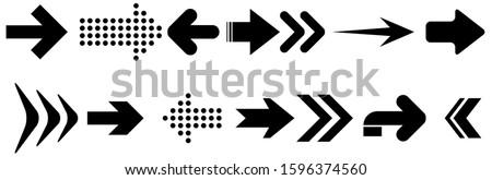 Arrows. vector design elements set. Arrows big black set icons. Arrow icon