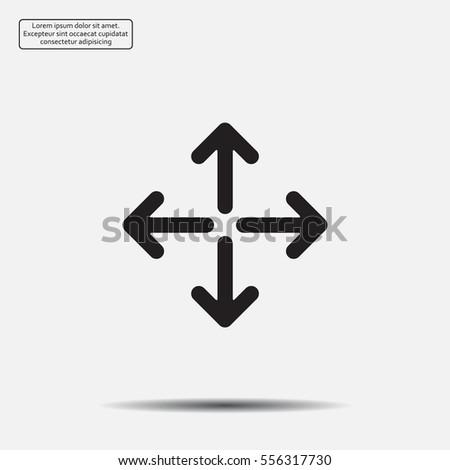 arrows vector icon