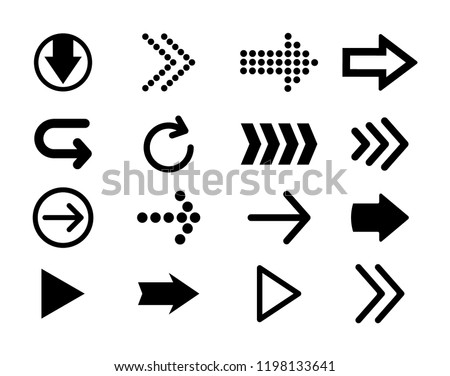 Arrows vector set. Arrow icons. Arrow vector icon. Arrow. Arrows vector collection. Vector illustration isolated on white background