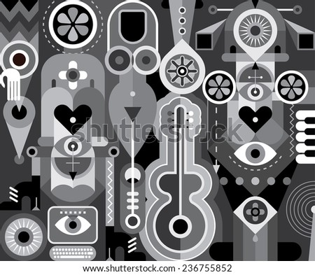 art abstract composition with