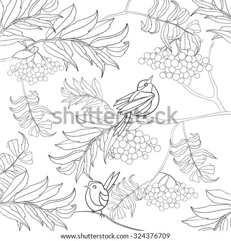 Art And Color Therapy An Anti Stress Coloring Book Birds In The Rowan