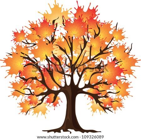 Art Autumn Tree Maple Stock Vector Illustration 109326089 Shutterstock