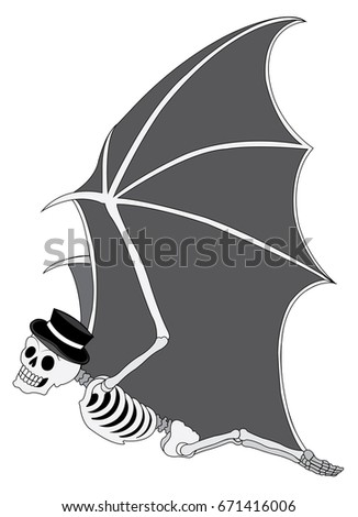 art bat  surreal skull day of