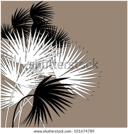 art beautiful floral vector background with space for text - stock vector