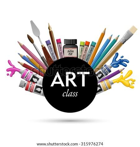 art class  eps10 vector