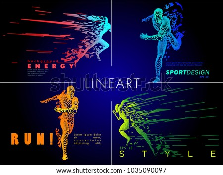 stock-vector-art-concept-of-a-running-man-vector-drawn-by-color-lines-minimal-cover-design-creative-line-art