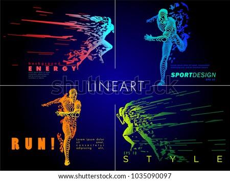 art concept of a running man