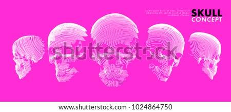 art concept of a skull vector