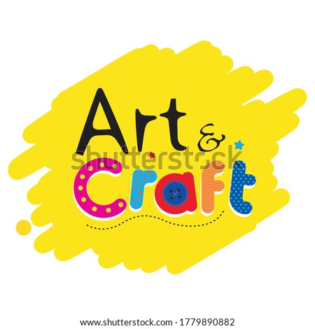 Art & craft book logo for children book Сток-фото ©