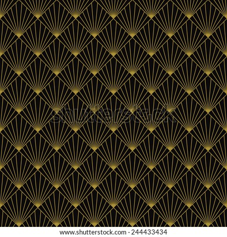 art deco art deco sun rays pattern. can be tiled seamlessly.
