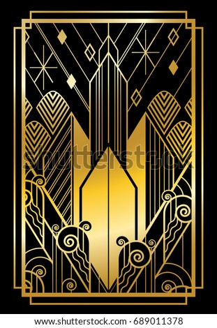 art deco city gold