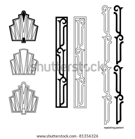 Shutterstock Art Deco design elements
