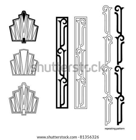 Shutterstock Art Deco design elements