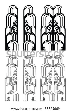Art Deco Graphic Design Elements Art Deco Elements Stock