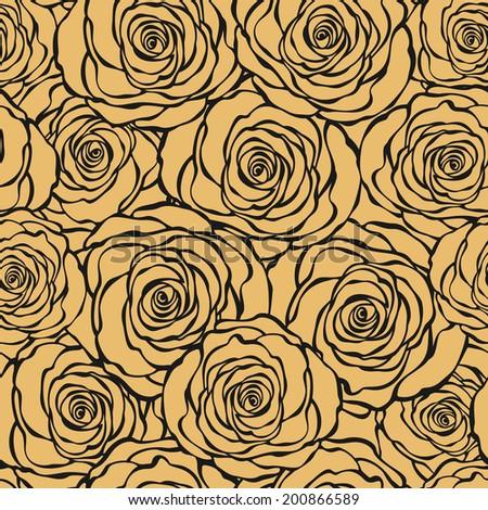 art deco floral seamless