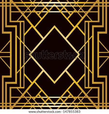 Art deco geometric pattern 1920's style