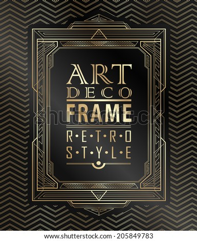 art deco geometric vintage