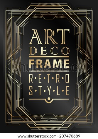 art deco geometric vintage