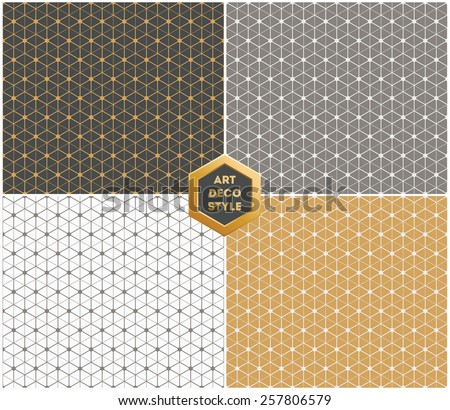 art deco hexagonal seamless