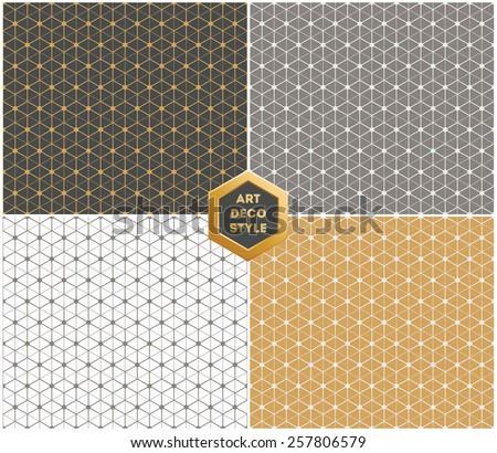 art deco hexagonal seamless