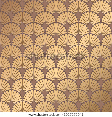 art deco pattern golden