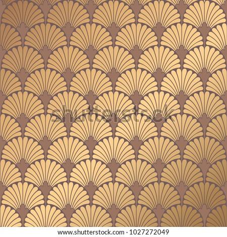 art deco pattern golden