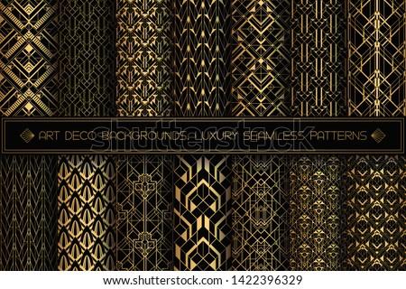 art deco patterns seamless