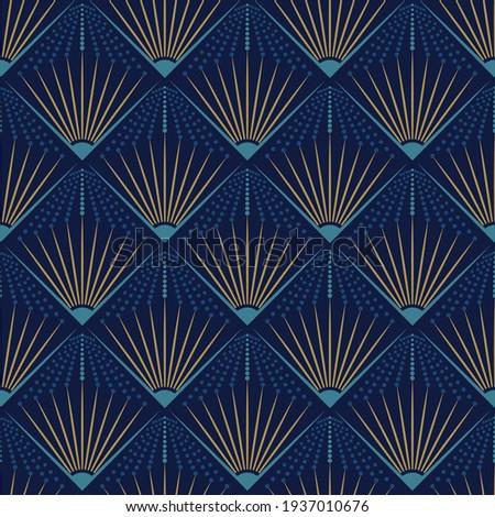 Art deco seamless pattern design with art noveau elements ストックフォト ©