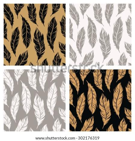 art deco seamless patterns set