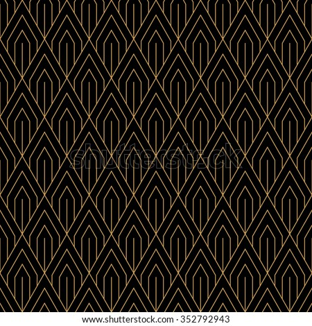 Art Deco seamless vintage wallpaper pattern. Geometric decorative background