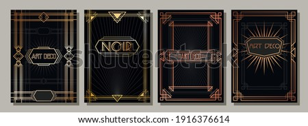 Art Deco Style Frames, Backgrounds, Cover, Poster Templates