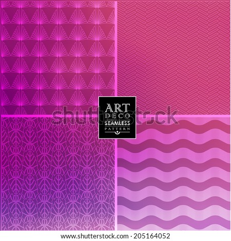 Art Deco thin line wallpaper pattern  can be used for invitation, congratulation
