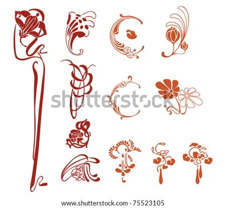 Art decoration stock vector illustration 75523105 for Art nouveau decoration ameublement