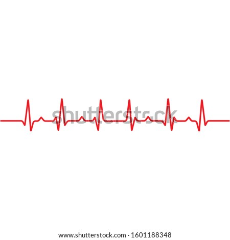 Art design health medical heartbeat pulse vector template Foto stock ©