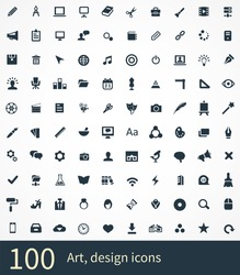 art, design Icons Vector set