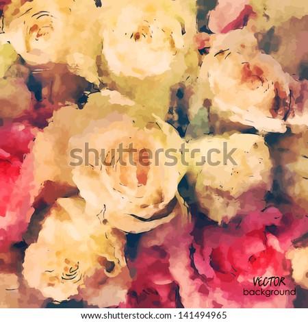 art floral colorful watercolor