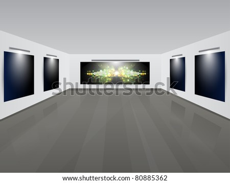 Art Gallery | Showroom with background.Vector illustration.