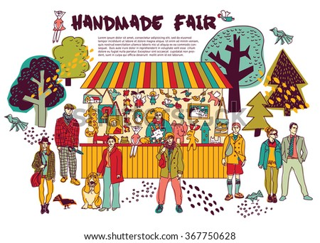 art hand made fair toys in park