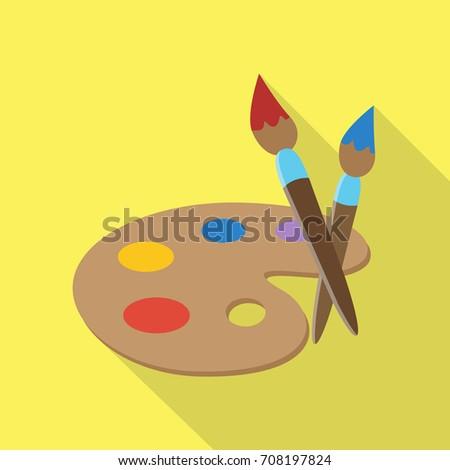 Art Icon Flat Design Long Shadow