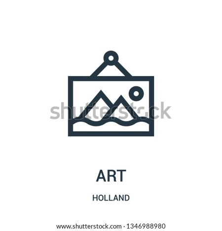 art icon vector from holland collection. Thin line art outline icon vector illustration. Linear symbol for use on web and mobile apps, logo, print media.