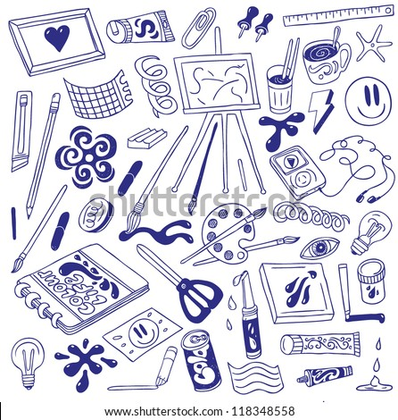 art icons - doodles collection