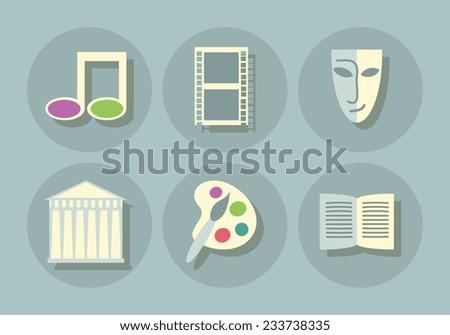 Art icons se flat design