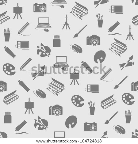 art icons seamless pattern