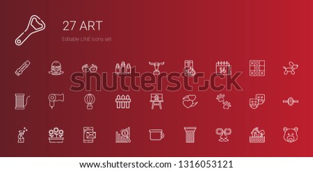art icons set collection of