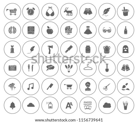 ART icons set - vector graphic design illustrations